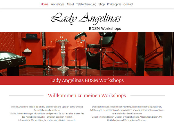 Lady Angelina BDSM Workshops